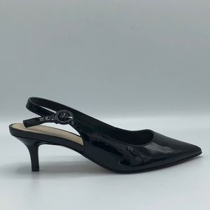 Marc Fisher Black Patent Slingbacks